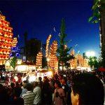 秋田が全国に誇るお祭り『竿燈まつり2017』屋台村も観覧席も人人人で凄かったです(笑)